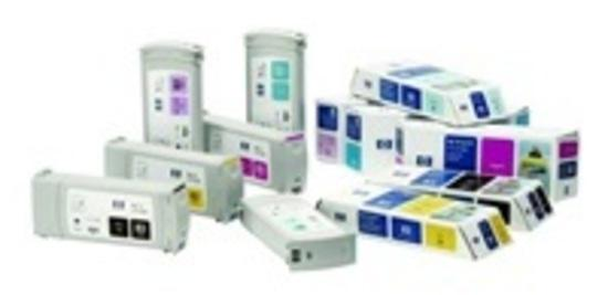 HP 83 Yellow UV DJ Ink Cart, 680 ml, C4943A, C4943A