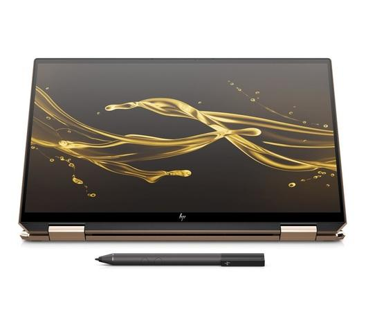 "Ntb HP Spectre x360 13-aw0100nc i5-1035G4, 8GB, 256GB, 13.3"", Full HD, bez mechaniky, Intel Iris Plus Graphics, BT, CAM, W10 Home + dotykové pero - černý, 8UE14EA#BCM"
