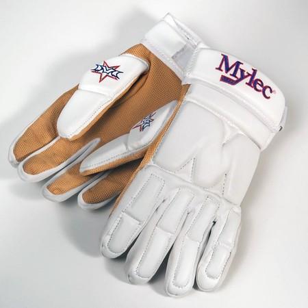"Hokejbalové rukavice Mylec Elite Street White, 15"", L, bílá"