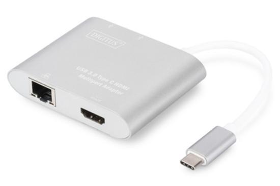 DIGITUS USB Type-C™ 4K HDMI Multiport Adapter, 4-Port, DA-70847