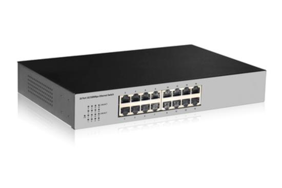 DIGITUS Professional Fast Ethernet N-Way 16-port switch, DN-60011-2