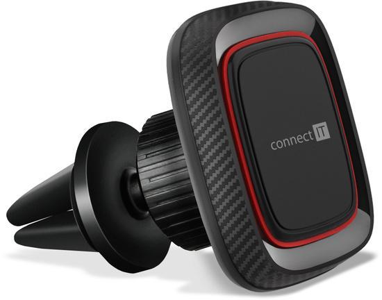 CONNECT IT InCarz 4Strong360 CARBON univerzální magnetický držák do auta, 4 magnety, ČERVENÝ