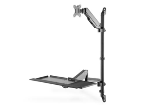 DIGITUS Flexible wall-mounted sit-stand workstation, single monitor, DA-90372