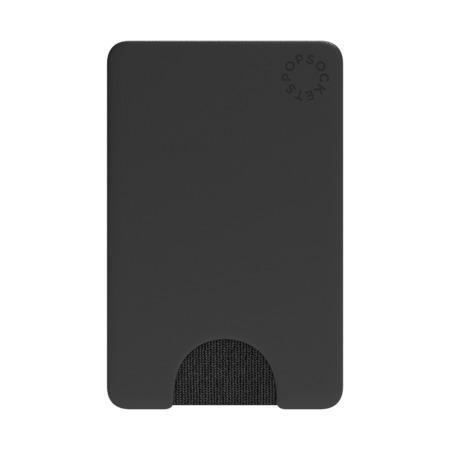 PopSockets PopWallet Black, pouzdro na mobil na karty/vizitky apod.