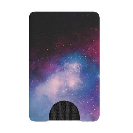 PopSockets PopWallet Blue Galaxy, pouzdro na mobil na karty/vizitky apod.