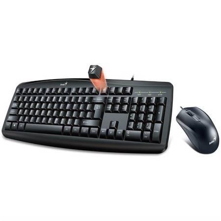 GENIUS klávesnice s myší Smart KM-200/ Drátový set/ USB/ černá/ CZ+SK layout, 31330003403