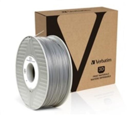 VERBATIM 3D Printer Filament PLA 1,75mm 1kg silver/metal grey (55275), 55319
