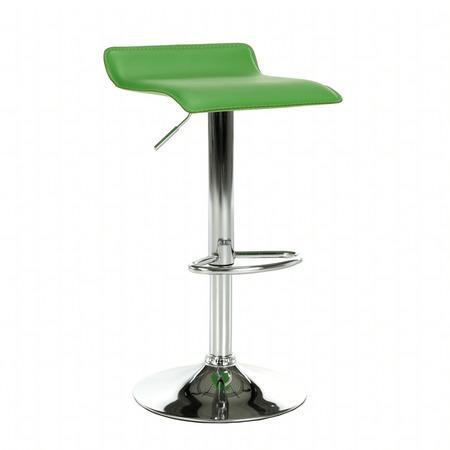 Tempo Kondela Barová židle, ekokůže zelená / chrom, LARIA NEW