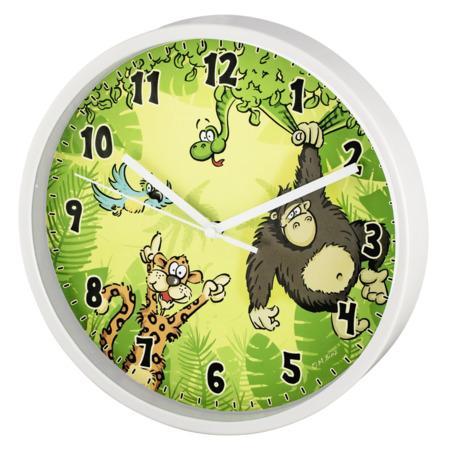 Hama Jungle dětské nástěnné hodiny, průměr 22,5 cm, tichý chod