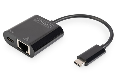DIGITUS Professional USB Type-C™ Gigabit Ethernet adapter with Power Delivery support, DN-3027