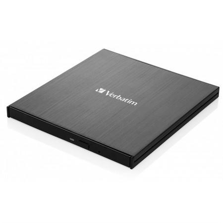 VERBATIM externí mechaníka Ultra HD 4K Blu-ray External Slimline Writer (USB 3.1, USB-C) + zdarma 25