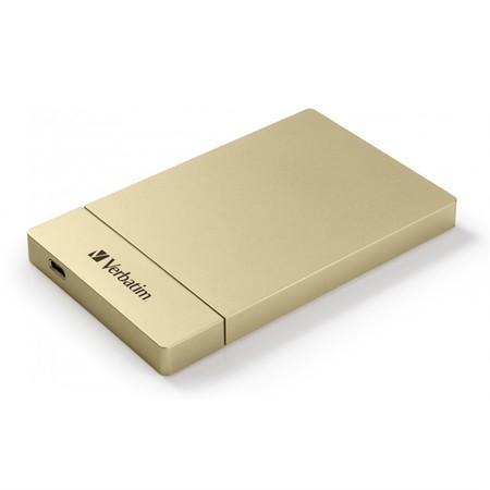 """Box na HDD Verbatim pro 2,5"""" HDD SATA, USB-C / USB 3.1. Gen2 - zlatý"""