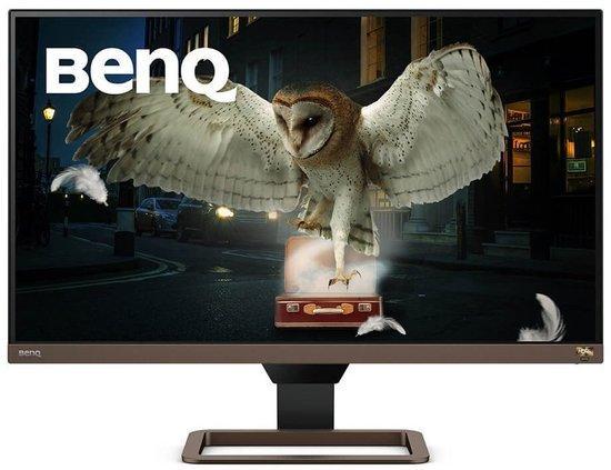 """BENQ 27"""" LED EW2780U/ IPS panel/ 3840x2160/ 1300:1/ 5ms/ 2x HDMI/ DP/ USB-C/ repro/ HDR/ hnědý - černý, 9H.LJ7LA.TBE"""