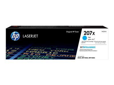 HP toner 207X (Cyan, 2450str) pro HP Color LaserJet Pro M255/MFP M282/ M283, W2211X