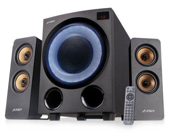 FENDA F&D repro F770X/ 2.1/ 76W/ černé s RGB/ BT5.0/ FM rádio/ USB přehrávání/ optický vstup/ dálkov