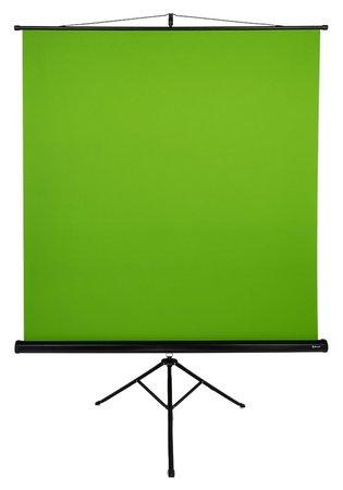"AROZZI Green Screen/ zelené plátno pro fotografy a streamery/ mobilní trojnožka 90"" (228 cm)/ 157 x 157 cm/ case černý, AZ-GS"