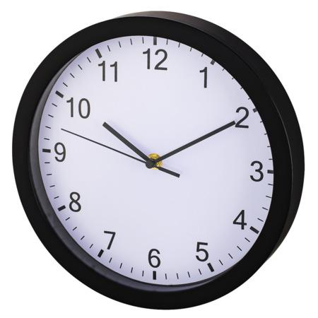 Hama Pure, nástěnné hodiny, průměr 25 cm, tichý chod, černé