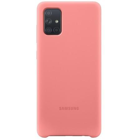 Kryt na mobil Samsung Silicon Cover pro Galaxy A71 - růžový
