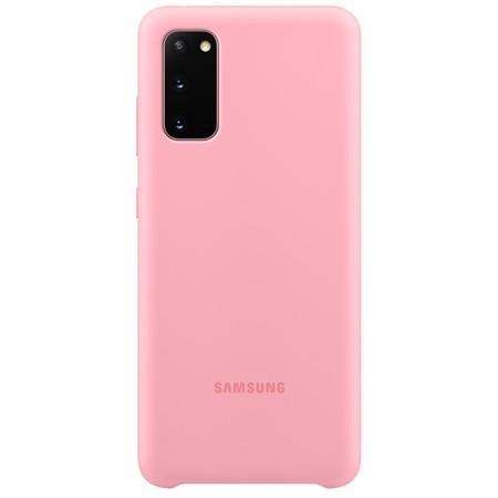 Silikonový zadní kryt Samsung Galaxy S20 Pink