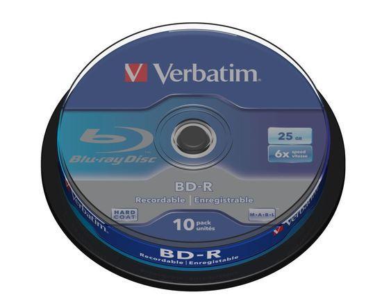 VERBATIM BD-R SL (6x, 25GB), 10ks/pack, 43742