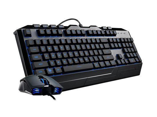 Cooler Master Devastator III, herní set klávesnice a myši, 7 barev LED, US layout, černá, SGB-3000-KKMF1-US