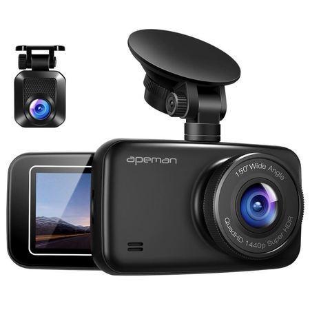Digitální Autokamera Apeman C860, 1440P a 1080P Dual Dash Cam