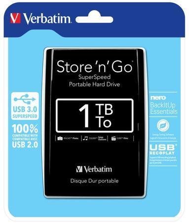 "Verbatim Store `n` Go 1TB, 2,5"", USB 3.0, 53023, 53023"