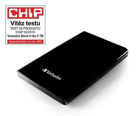 VERBATIM HDD 2TB USB 3.0 BLACK 53177, 53177