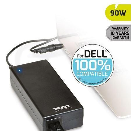 PORT CONNECT DELL 100% napájecí adaptér k notebooku, 19V, 4,74A, 90W, 2x DELL konektor, 900007-DE