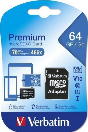 VERBATIM MicroSDXC 64GB CL10 UHS-I 44084