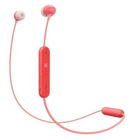 Sluchátka Sony WI-C300R - červená