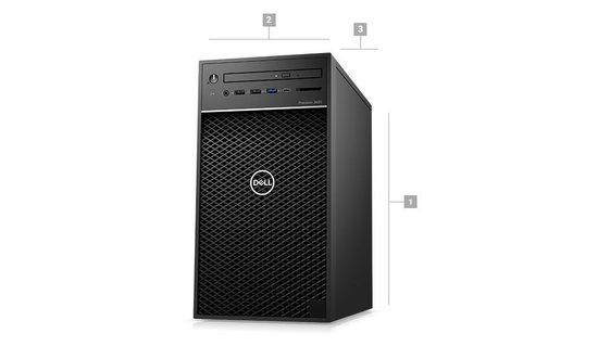 DELL Precision T3630/E-2274G/16GB/256GB SSD/Intel UHD/DVDRW/klávesnice+myš/Win 10 Pro, 76N5D