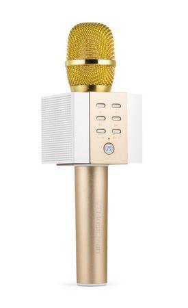 Technaxx ELEGANCE bluetooth karaoke mikrofon, 2x5W repro, zlatá (BT-X45)