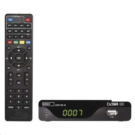 Emos EM190-S - set-top-box DVB-T2 HEVC/h.265, USB
