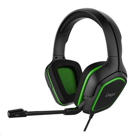 iPega PG-R006 herní sluchátka s mikrofonem zelená