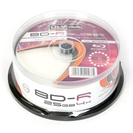 FREESTYLE BD-R BLU-RAY 25GB 6X PRINT FF GLOSSY CAKE*25 [41567], OFBDRPG6C25