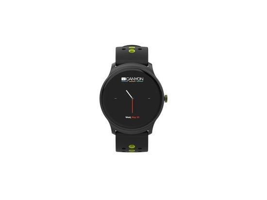 "CANYON smart hodinky, 1,3"" barevný plně dotykový display, IP68, režim multisport, iOS/android, černo"