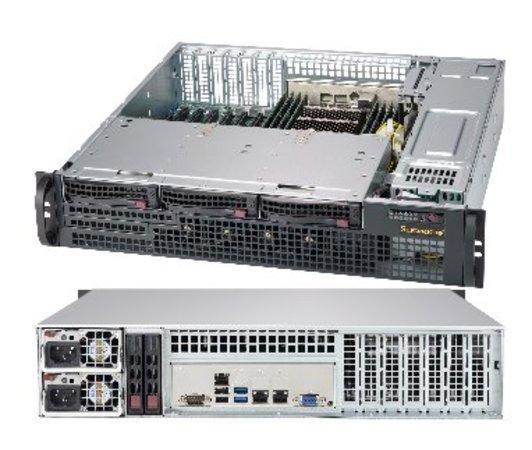 "SUPERMICRO 2U short depth chassis 3x 3,5"" HS SAS/SATA, DVD, 2x800W (titanium), CSE-825MBTQC-R802LPB"
