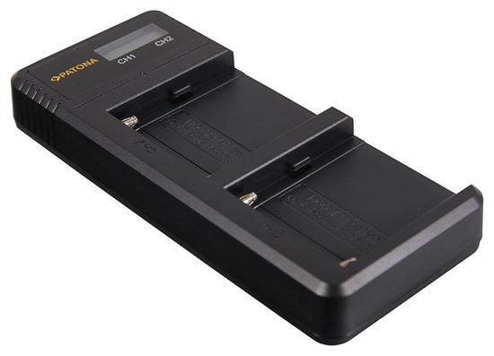 PATONA nabíječka Foto Dual LCD Sony F550/F750/F970 USB