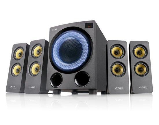 FENDA F&D repro F7700X/ 4.1/ 80W/ černé s RGB/ BT5.0/ FM rádio/ USB přehrávání/ optický vstup/ dálko