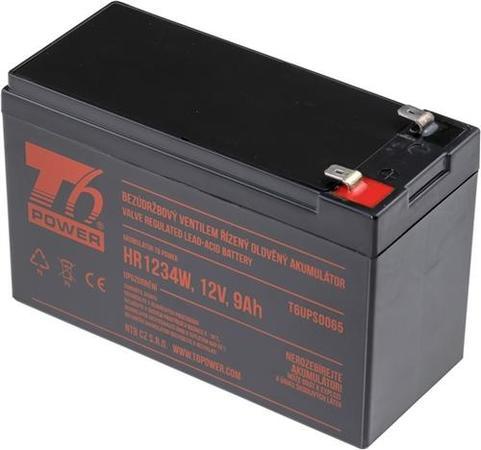 T6 POWER olověný akumulátor HR1234W, 12V, 9Ah, T6UPS0065