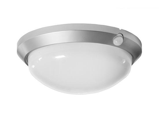 Panlux OS-60/CH OLGA S přisazené stropní a nástěnné kruhové svítidlo se senzorem 60W stříbrná
