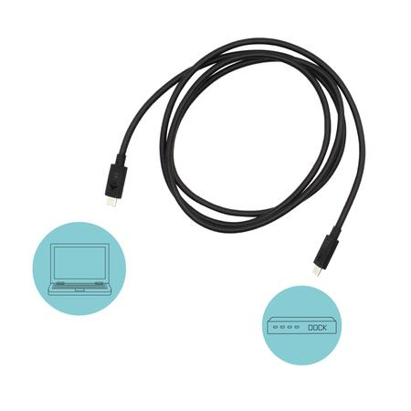 i-tec Thunderbolt 3 – Class Cable, 40 Gbps, 100W Power Delivery, USB-C Compatible, 150cm