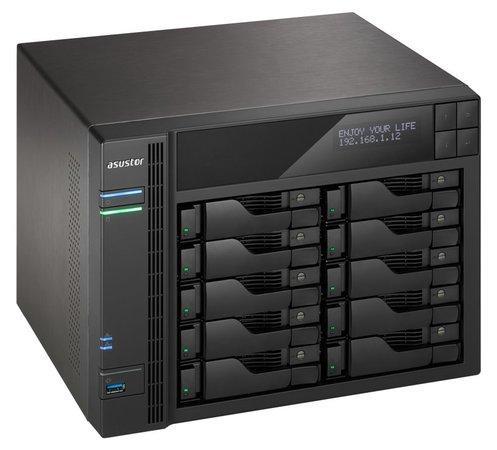 """Asustor NAS AS7010T-I5 / 10x 2.5""""/3.5"""" SATA III/ Intel i5-4590S 3.0GHz/ 8 GB/ 2x GbE/ 3x USB 3.0/ 2x USB 2.0/ eSATA, AS7010T-I5"""