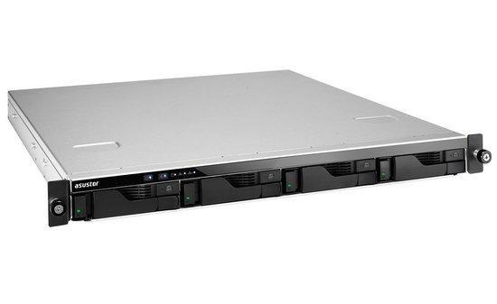 "Asustor NAS AS6204RD/RAIL KIT / 4x 2.5""/3.5"" SATA III/ Intel Celeron 1.6GHz/ 4GB/ 4x GbE/ 4x USB 3.0/ red. zdroj"