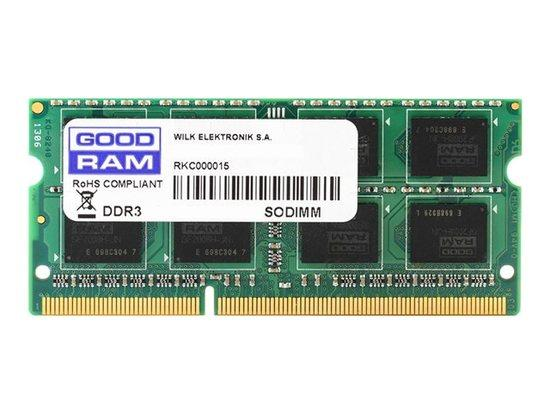 GOODRAM DDR3 4GB 1333MHz CL9 SODIMM 1.5V (512x8), GR1333S364L9S/4G
