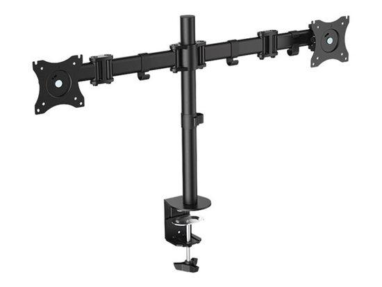LOGILINK - Dual monitor desk mount, 13-27``, max. 8 kg, BP0022