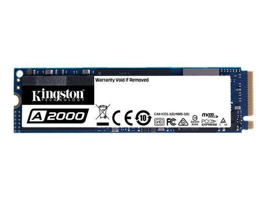 Kingston SSD 500GB A2000 PCIe NVMe Gen3x4 M.2 2280 TLC (čtení/zápis: 2200/2000MB/s; 180/200K IOPS)