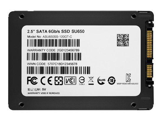 "A-Data SU650 120GB, 2,5"", SATAIII, ASU650SS-120G, ASU650SS-120GT-R"