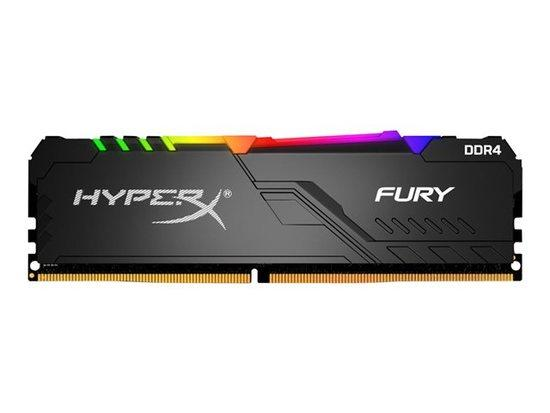 Kingston DDR4 32GB (Kit 4x8GB) HyperX FURY DIMM 2666MHz CL16 SR x8 RGB